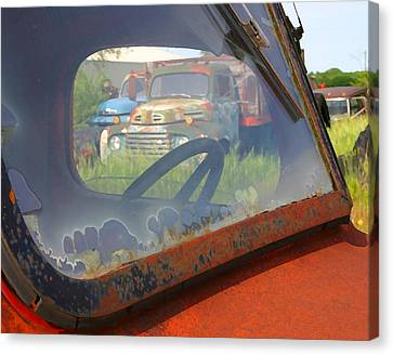 Canvas Print featuring the photograph Truck Glass by Christopher McKenzie
