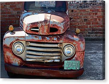 Canvas Print featuring the photograph Ford In Goodland by Lynn Sprowl