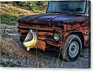Canvas Print featuring the photograph Truck With Benefits by Ron Roberts