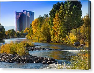 Truckee River From Sparks Canvas Print by Janis Knight