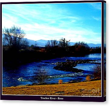 Canvas Print featuring the photograph Truckee River In Motion by Bobbee Rickard