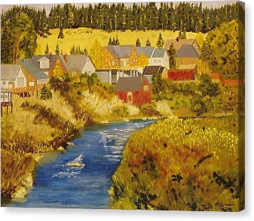 Truckee River - Truckee Ca Canvas Print