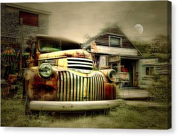Truckyard Canvas Print by Diana Angstadt