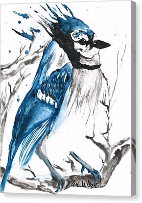 True Blue Jay Canvas Print