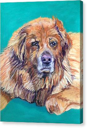 Canvas Print featuring the pastel True Companion by Julie Maas