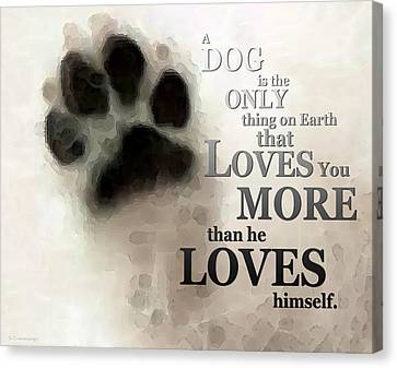Dog Canvas Print - True Love - By Sharon Cummings Words By Billings by Sharon Cummings