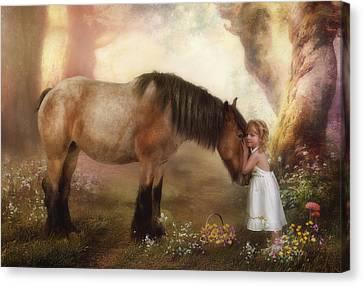 True Love Canvas Print by Cindy Grundsten