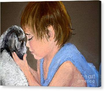 Canvas Print featuring the painting True Love by Mary Lynne Powers