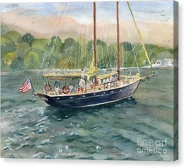 True Love Schooner Canvas Print by Melly Terpening