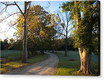 True Love Travels On A Gravel Road Canvas Print by Bill Cannon