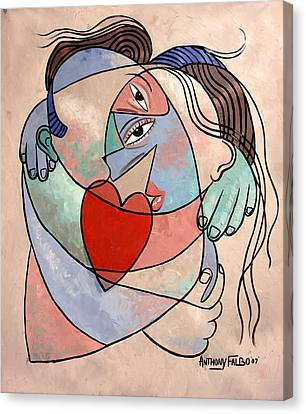 True Love When Two Become One Canvas Print by Anthony Falbo