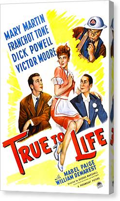 True To Life, Us Poster, Victor Moore Canvas Print
