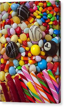 Truffles And Assorted Candy Canvas Print by Garry Gay