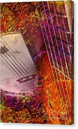 Truly Southern Digital Banjo And Guitar Art By Steven Langston Canvas Print by Steven Lebron Langston