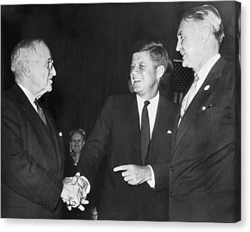 Truman, Kennedy, And Symington Canvas Print