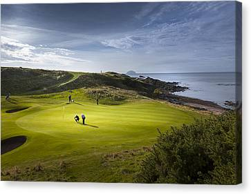 Sports Canvas Print - Turnberry Seascape Golf Course by Alex Saunders