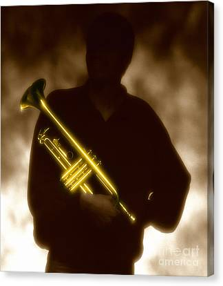 Trumpet 1 Canvas Print by Tony Cordoza