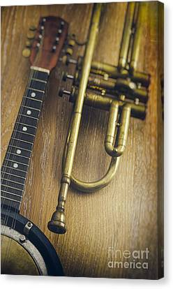Trumpet And Banjo Canvas Print