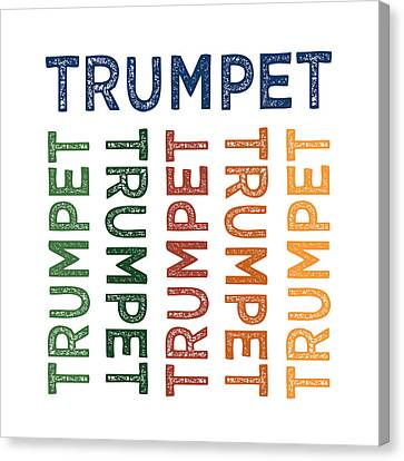 Trumpet Cute Colorful Canvas Print by Flo Karp