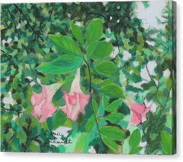 Trumpet Flower Tree Canvas Print