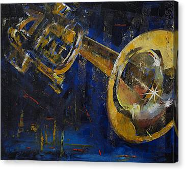 Musique Canvas Print - Trumpet by Michael Creese