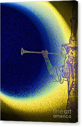 Trumpet Moon Canvas Print by First Star Art