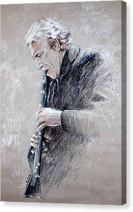 Trumpetist Flamenco Canvas Print