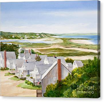 Truro Summer Cottages Canvas Print by Michelle Wiarda