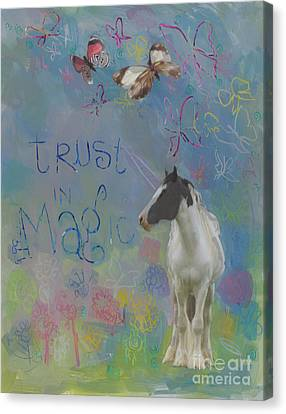 Trust In Magic Canvas Print by Kimberly Santini
