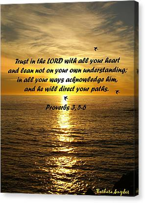 Trust In The Lord  Canvas Print