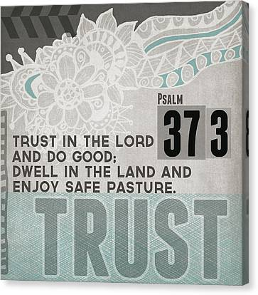 Trust In The Lord- Contemporary Christian Art Canvas Print
