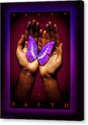 Trust Is Faith Canvas Print by Tony Nixon