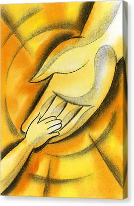 Innocence Canvas Print - Trust by Leon Zernitsky