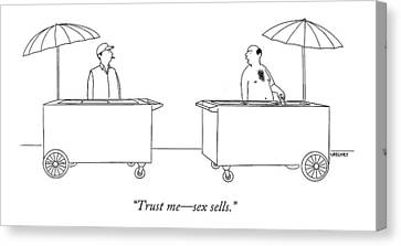 Trust Me - Sex Sells Canvas Print by Alex Gregory