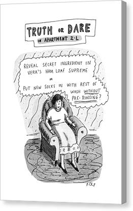 Madonna Canvas Print - Truth Or Dare In Apartment 2-l by Roz Chast