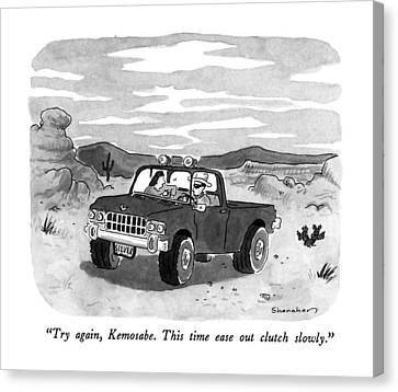 Try Again, Kemosabe.  This Time Ease Out Clutch Canvas Print by Danny Shanahan
