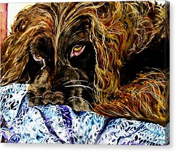Trying To Sleep Here Canvas Print by Lil Taylor