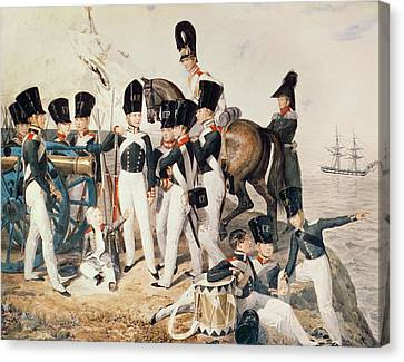 Tsarevich Alexander 1818-81 With His Cadets At Peterhof, C.1823 Wc On Paper Canvas Print