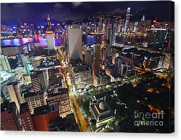 Tsim Sha Tsui In Hong Kong Canvas Print by Lars Ruecker