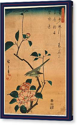 Tsubaki Ni Uguisu Canvas Print by Utagawa Hiroshige Also And? Hiroshige (1797-1858), Japanese
