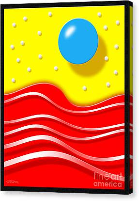 Canvas Print featuring the digital art Tsunami 2 by Cristophers Dream Artistry