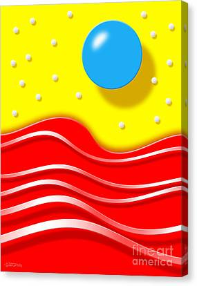 Canvas Print featuring the digital art Tsunami by Cristophers Dream Artistry