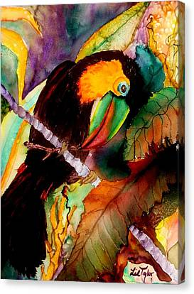 Tu Can Toucan Canvas Print by Lil Taylor
