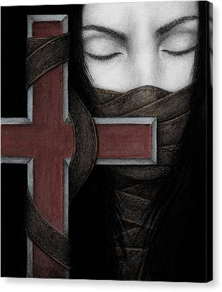 Canvas Print featuring the painting Tu Non by Pat Erickson