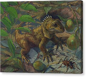 Tuatara - The Reptilian Time Capsule Canvas Print by ACE Coinage painting by Michael Rothman