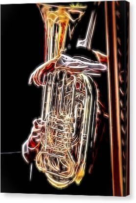 Tuba Player Canvas Print