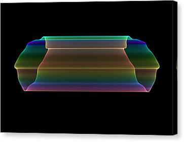 Tubular Rainbow Canvas Print by Denise Beverly