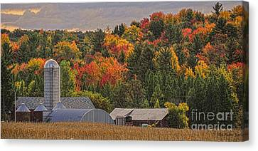 Tucked Away In Autumn Canvas Print by Trey Foerster
