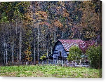 Tucked Into Fall Canvas Print by Debra and Dave Vanderlaan