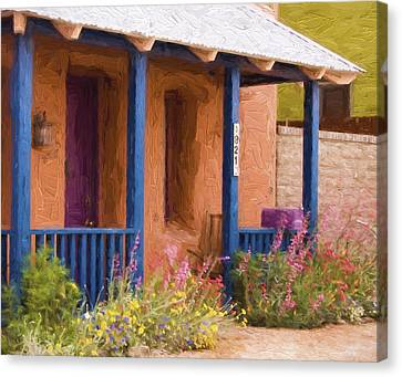 Tucson 821 Barrio Painterly Effect Canvas Print by Carol Leigh
